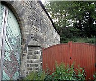 SE0722 : Gates and Barn at Pickwood Scar, Norland by Michael Steele