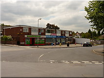 SO9096 : Shops on Birchwood Road, Goldthorn Hill by Richard Law
