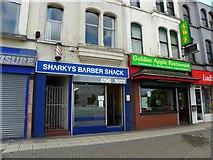J5081 : Sharkeys Barber Shack / Golden Apple Restaurant by Kenneth  Allen