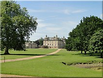 TF7928 : The back of Houghton Hall, Norfolk by Adrian S Pye