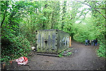TQ3472 : London Wildlife trust shed, Sydenham Hill Wood Nature Reserve by N Chadwick