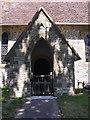 SU8518 : The church porch at Bepton by Shazz
