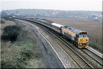 SW5031 : Manchester to Penzance excursion at Marazion Marsh by roger geach