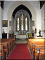 TF8628 : St Margaret's church in Tatterford - view east by Evelyn Simak