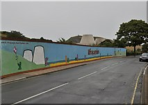 SS5147 : Hoarding alongside the derelict site of the Golden Coast Amusement Arcade, 14-18 Wilder Road by Roger A Smith