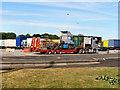 SD8408 : Birch Services, Eastbound  Lorry Park by David Dixon