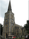 TQ2471 : St Mary's church, Wimbledon: tower by Stephen Craven