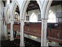 TQ2471 : St Mary's church, Wimbledon: galleries by Stephen Craven