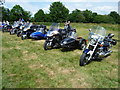 ST0207 : Cullompton : Motorbikes at the CCA Fields by Lewis Clarke