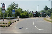 SO6302 : Lydney : eastern approach to A48 level crossing by Jaggery