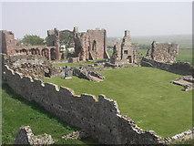NU1241 : Lindisfarne Priory, Northumberland by Graham Hogg