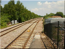 SO6301 : Two tracks become four, east of Lydney railway station by Jaggery