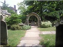 TQ2075 : St Mary the Virgin Churchyard, Mortlake by Marathon