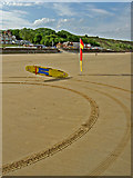 TA1280 : RNLI Lifeguard equipment on Filey Beach by Steve  Fareham