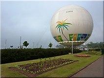 SX9063 : Captive balloon, near Torre Abbey, Torquay by Tom Jolliffe