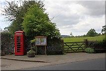 SK1971 : Telephone Box and Village Information Board, Little Longstone by Mick Garratt