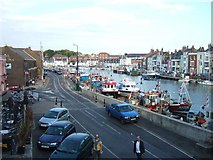 SY6778 : The view from Town Bridge, Weymouth by David Smith