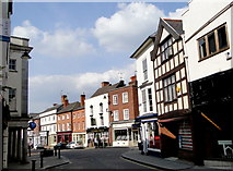 SO4959 : High Street and Broad Street, Leominster by Philip Pankhurst