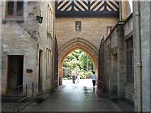 NU0702 : Inner courtyard, Cragside House by Simon Huguet