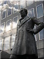 TQ2982 : Robert Stephenson statue, Euston station forecourt by Christopher Hilton