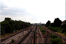 TQ3187 : Finsbury Park:  View from a footbridge by Dr Neil Clifton