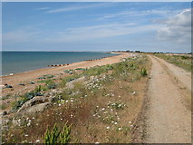TR1332 : Beach next to Hythe Ranges by Oast House Archive