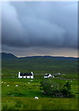 NG4867 : Skye croft house by John S Ross