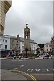 SX3384 : Launceston War Memorial and Town Square by SMJ