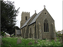 TG0135 : St Mary's church in Gunthorpe by Evelyn Simak