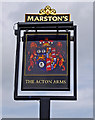 SO6794 : The Acton Arms (pub sign), Haughton Lane by P L Chadwick