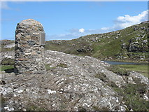 NB1537 : Great Bernera Memorial Cairn by David Purchase