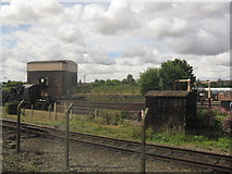 SU5290 : Coaling stage and water cranes, Didcot Railway Centre by Peter Whatley
