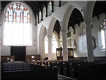 TM3389 : St Mary's church in Bungay - view west by Evelyn Simak