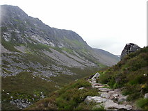 NH9503 : Ascending the path in the Lairig Ghru by Peter S