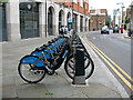 TQ3280 : London cycle hire docking station - Union Street by Stephen Craven