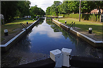 SU9946 : Unstead Lock, River Wey Navigation by Ian Taylor