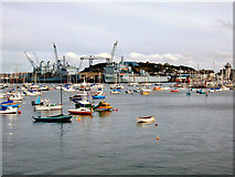 SW8132 : Falmouth Harbour by David Dixon
