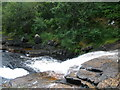 NN0640 : Waterfall on the Allt Easach by John Ferguson