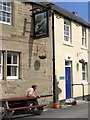 NZ1665 : Flood markers, The Boathouse Pub, Water Row, Newburn by Andrew Curtis