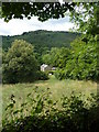 SK3462 : Hillside view with a glimpse of Overton Hall by Andrew Hill