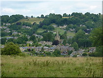 SK3463 : Ashover village from the south by Andrew Hill