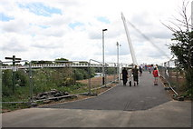 SO8453 : The newly opened Diglis Bridge by Bob Embleton