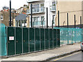 TQ3279 : Cycle lockers on Trundle Street by Stephen Craven
