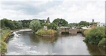 SO8453 : Diglis locks on the River Severn by Bob Embleton