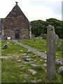 Q4006 : Ogham Stone at Kilmalkedar Church by Eileen Henderson