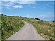 SH3033 : The Llanfihangel Bachellaeth Road from the gate of Tyddyn-yr-haint by Eric Jones