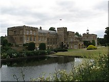 ST3505 : Forde Abbey across the end of the Long Pond by Sarah Charlesworth