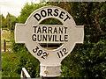 ST9212 : Tarrant Gunville: finger-post detail by Chris Downer