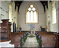 TM1596 : St Nicholas' church in Fundenhall - view west by Evelyn Simak