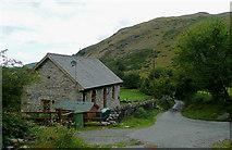 SN7765 : Converted chapel and the lane to Pontrhydfendigaid, Ceredigion by Roger  Kidd